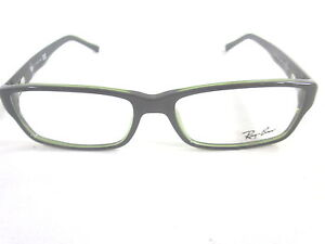 32ae1091e9 Image is loading RAY-BAN-RX5169-2383-RECTANGLE-EYEGLASSES-BLACK-GREEN-