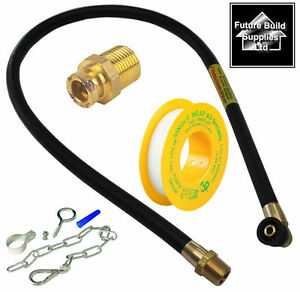 Gas Electric Cooker Hose Chain Stability Safety Fittings Kit