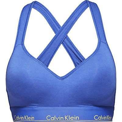 Calvin Klein Donna Moderna Cotone Bralette Lift, Puro Blu Ceruleo-mostra Il Titolo Originale Rafforza Tendini E Ossa