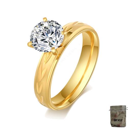Original Enez Ring Trauring Ehering Edelstahlring Gr: 11 B: 8mm R2623 21mm G
