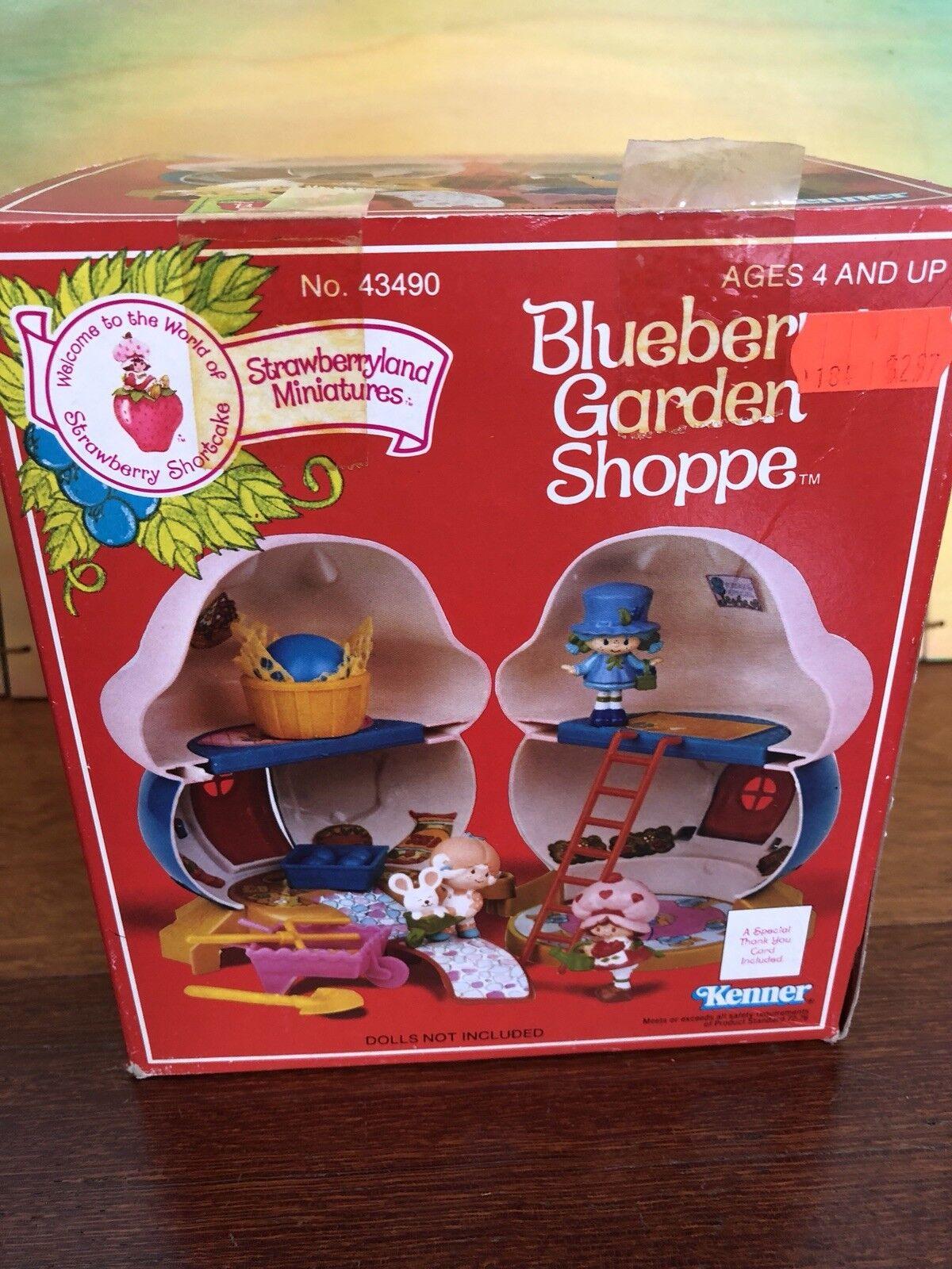 Strawberry Shortcake Vintage Arándano Jardín Shoppe Miniaturas Nuevo en Caja Original