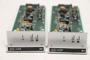 Lot of 2) Grass Valley Subcarrier Receiver 066706-50m DV 55-046706-04 Card Board
