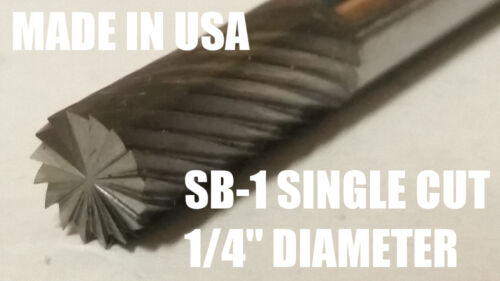 "SB1S Cylindrical End Cut 1//4/"" Carbide Burr Bur Tool Die Grinder Bit 1//4/"" Shank"