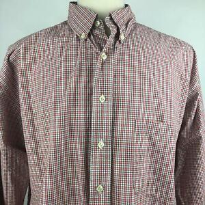 Eddie-Bauer-Multi-Plaid-Button-Down-Shirt-Long-Sleeve-Cotton-Mens-Size-XL-Tall