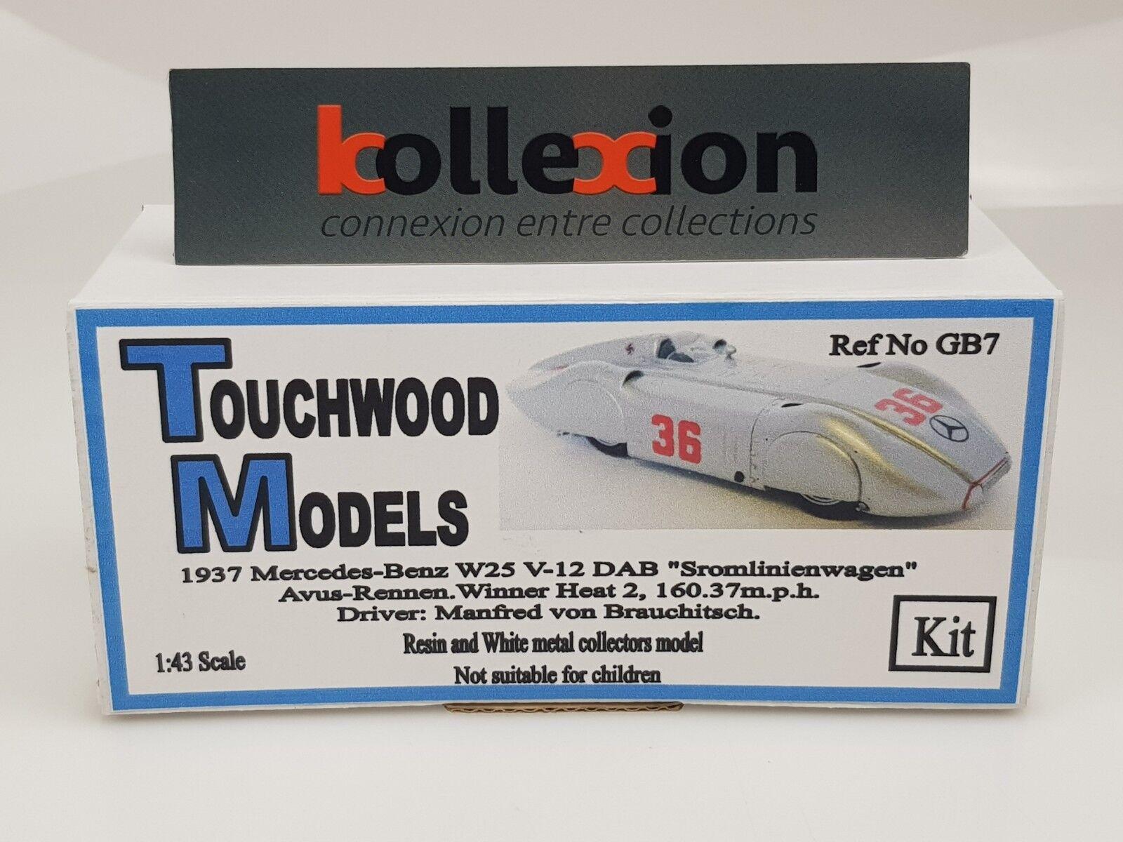 TOUCHWOOD MODELS MODELS MODELS TWCGB7 MERCEDES BENZ W125 STROMIENEN Record Avus 1937 Kit 1.43 a498db