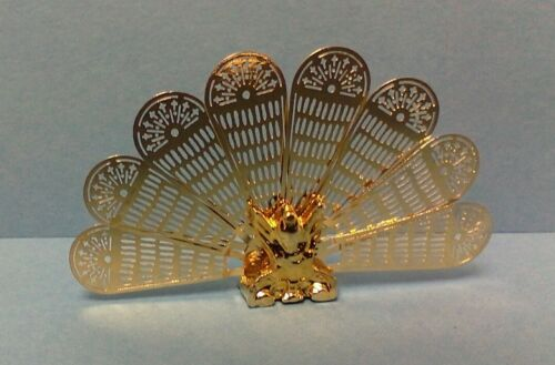 Dollhouse Miniature Handley House Classics brass Peacock Fire Screen 112 scale