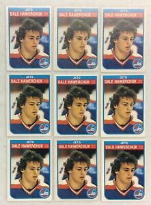 LOT-OF-9-DALE-HAWERCHUK-1982-83-OPC-O-PEE-CHEE-ROOKIE-HOCKEY-CARDS-380-HOF-JETS