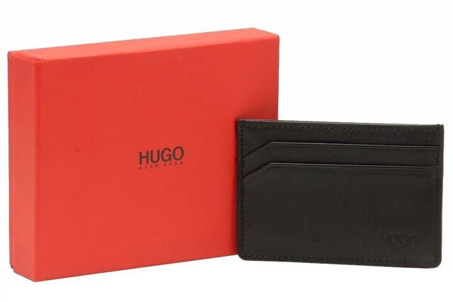 Hugo Boss Mens Hero Hugo Logo Leather 6 Credit Card Pocket Wallet