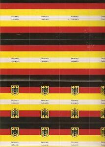 DEUTSCHLAND-Germany Aufkleber 5 BOGEN a 32 Aufkleber=160 Aufkleber-1=ca.6x4,5cm