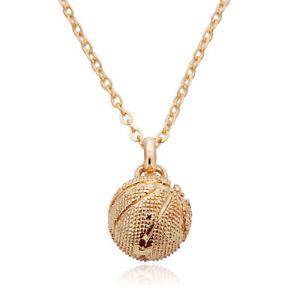 Women s Gold Silver 12mm Basketball Pendants Jewelry Handmade Chain ... 9758065a7c