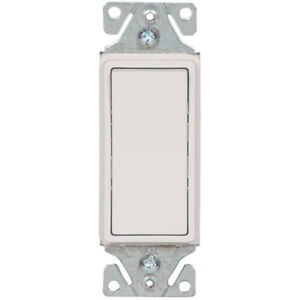 10 Cooper RESIDENTIAL 3-Way Decorator Rocker Wall Light Switches 15A 7503A