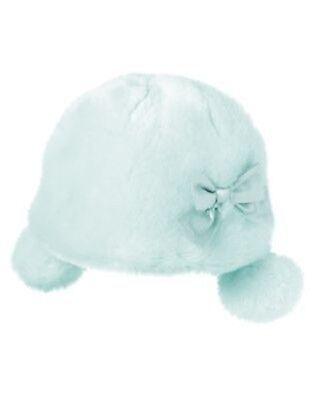 GYMBOREE SNOWFLAKE UNICORN BLUE FURRY MITTENS 0 12 24 2T 3T NWT