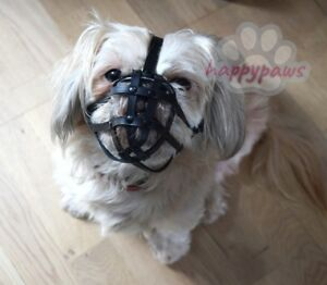 Image Is Loading Leather Dog Muzzle For Shih Tzu And Other