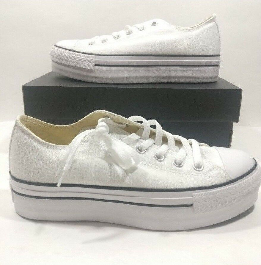 Womens Converse Chuck Taylor All Star White Platform Ox shoes shoes shoes 540265F Multi Size 2fef12