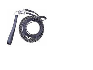 HKM en cuir-corde Tirer rênes NOIR Livraison Gratuite-afficher le titre d`origine whP9EMbP-07143125-986212337