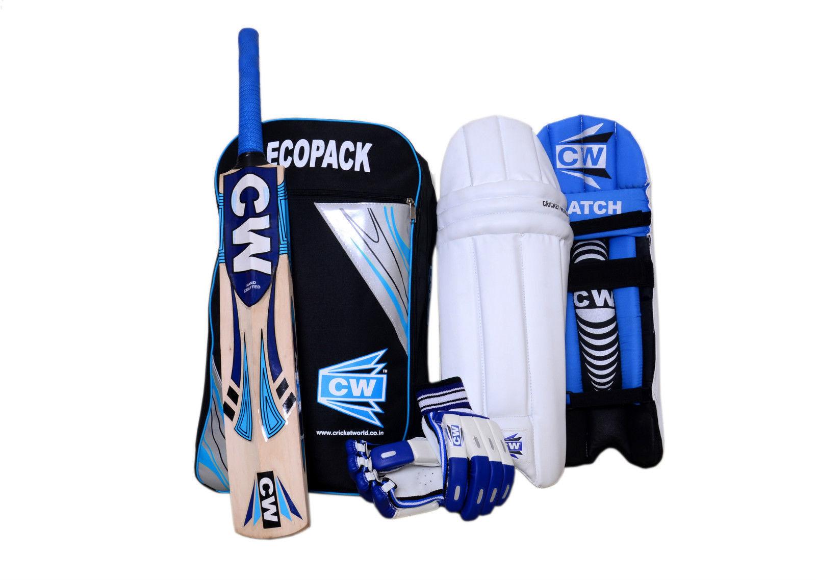 SMASHER 4 Pc bluee Kit Batting Equipment Match Training Set For Senior 13+& Above