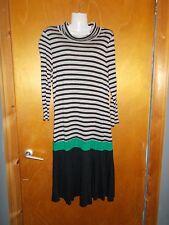 Killah Sixty 3/4Sleeved Striped Dress L UK14 Black Mix BNWT