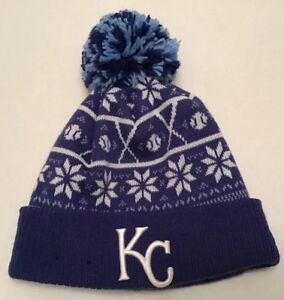 be9bbdc3 Details about Kansas City Royals New Era MLB Knit Cap With Cuff And Pom