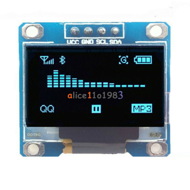 "0.96"" I2C 128X64 serie IIC PANTALLA LED LCD OLED azul 128*64 Módulo para Arduino"