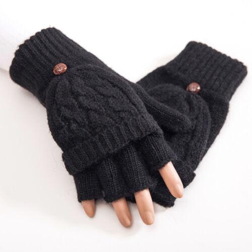 Dame Flip Finger Handschuhe gestrickte künstliche Wollhandschuhe