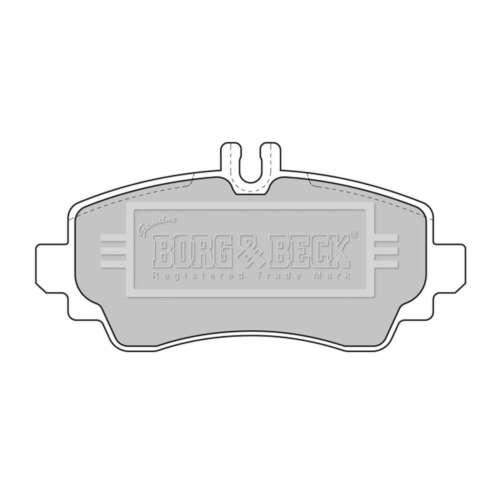 Genuine Borg /& Beck Pastiglie Freno Anteriore-BBP1634