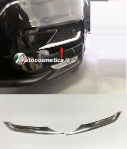 modanature-Cornici-paraurti-per-Nissan-Qashqai-17-2019-acciaio-cromo
