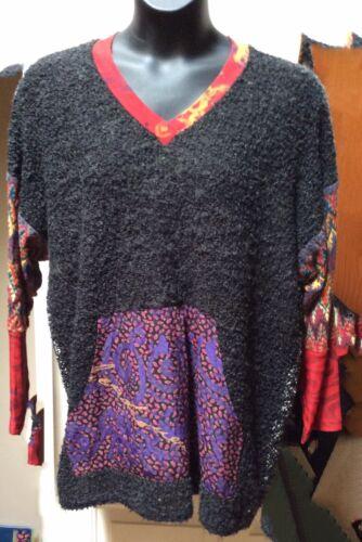 JG's Mad Lab Mixed Media Large Back pocket sweater