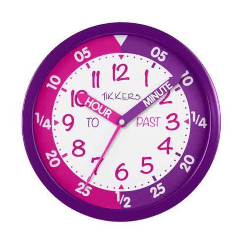 Tikkers Silencieux sweep secondes Precision Mouvement Temps Professeur Enfants Horloge Murale