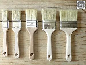 PROFI-Maler-Pinsel-Lackierpinsel-Lasurpinsel-Flachpinsel-Farbe-Lack-Kreidefarbe