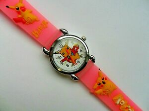 SALE-New-Great-Kids-3D-POKEMON-PIKACHU-Silicon-Jelly-Watch-Pink-Strap