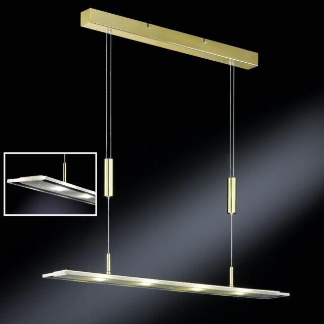 LED Pendelleuchte Honsel Esszimmer Hängelampe 4x 4 Watt Küche Messing