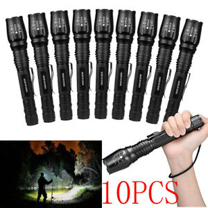 Lot-Tactical-300000Lumen-5-mode-T6-Zoomable-18650-LED-Flashlight-Torch-Aluminum