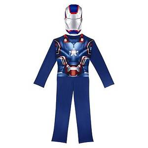 Stock photo  sc 1 st  eBay & Iron Patriot Full Costume Man 3 Avengers Kids 4-6x Marvel Cosplay ...