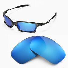 New Walleva Polarized Ice Blue Replacemen Lenses For Oakley X-Squared Sunglasses