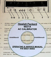 Hp Hewlett Packard 6921a Ac Calibrator Operating & Service Manual