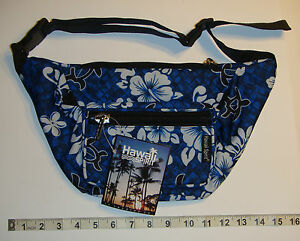 Details about Hawaii Spirit Hawaiian Print Navy Fanny Pack Belly Waist Bum Bag Belt Pouch H12