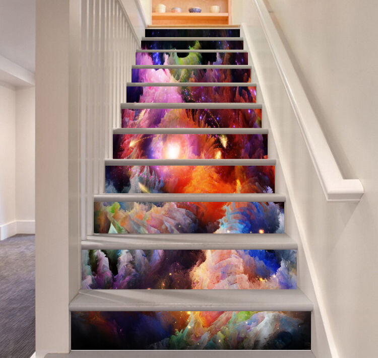 3D Painted Sky 735 Risers Decoration Photo Mural Vinyl Decal Wallpaper CA
