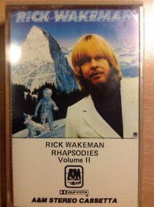RICK-WAKEMAN-RHAPSODIES-VOL-I-E-II-MUSICASSETTA-NUOVO-D-039-EPOCA-RIMANENZA