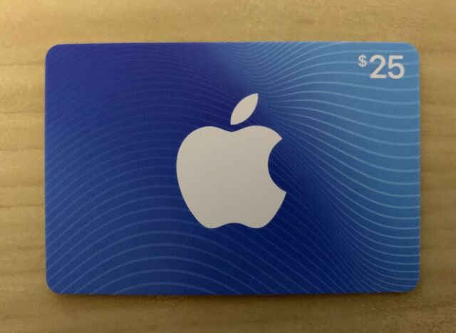 $25 Apple App Store & iTunes Gift Card - Physical Card To Be Mailed