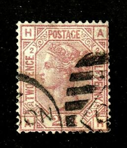Great Britain stamp #66,used, plate 2,  Queen Victoria, SCV $90