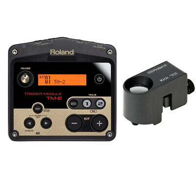 roland tm2 trigger module with rt 30k acoustic drum trigger bundle new 736724302464 ebay. Black Bedroom Furniture Sets. Home Design Ideas