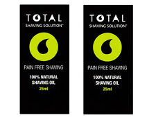 100% Natural Mens Total Shaving Solution Shave Oil Grapeseed Menthol Pre Post