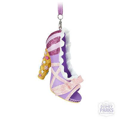 Disney Parks Authentic Rapunzel Tangled Runway Shoe Ornament Christmas New