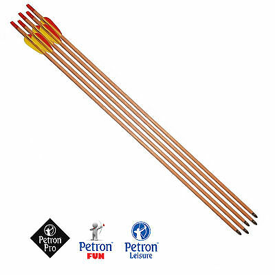 Eerlijk Single Wooden Arrows By Petron 26 Inch, 28 Inch, 30 Inch All Sizes Archery Bow
