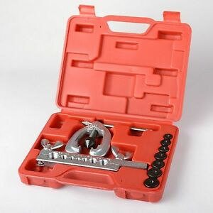 Brake /& Air Line Double Flaring Tool  Kit Water Gas Line Automotive Plumbing