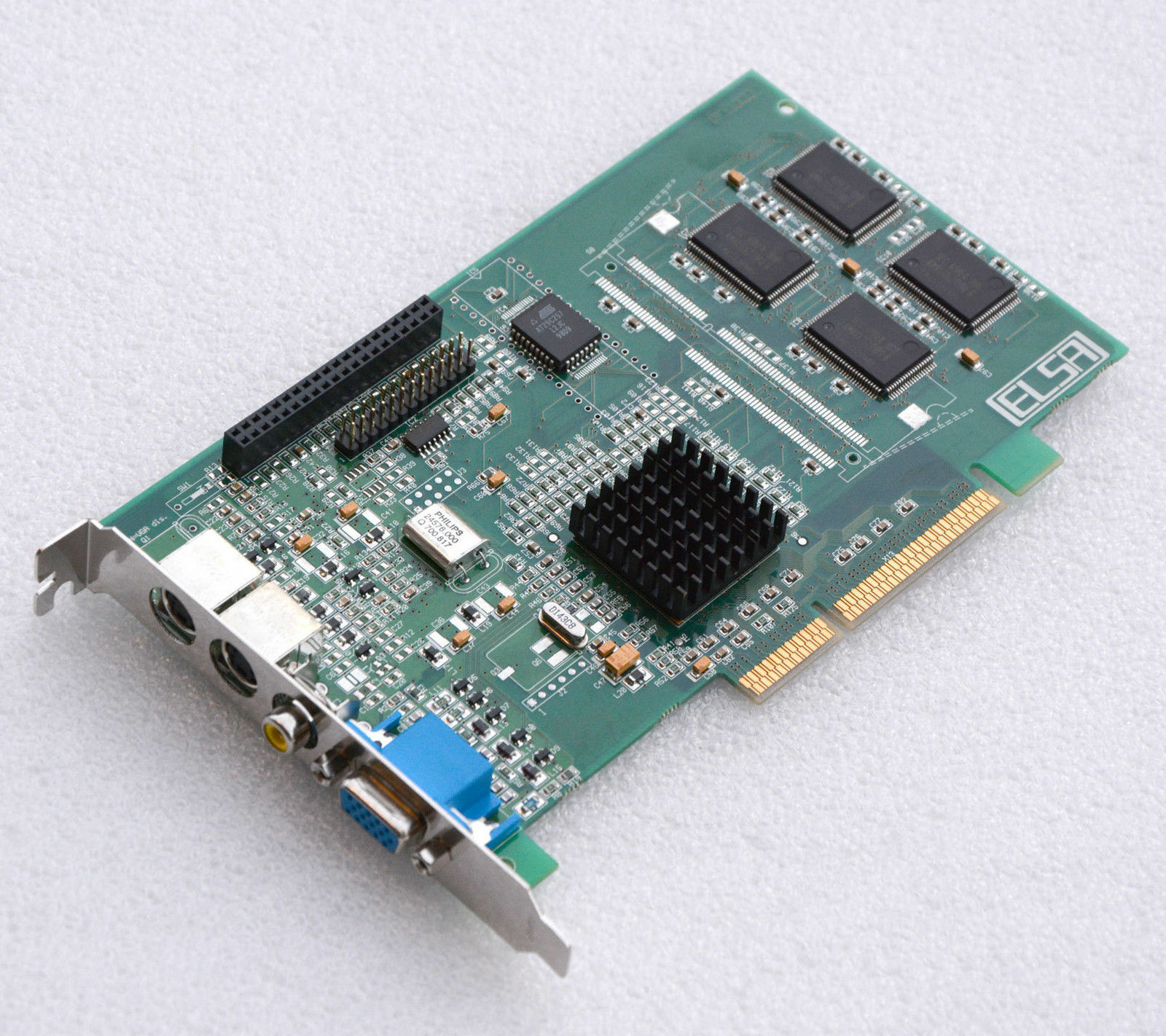 Graphic Card ELSA Winner 2000 Office A8 Vivo 3DLabs AGP VGA S-video IN/Out G26