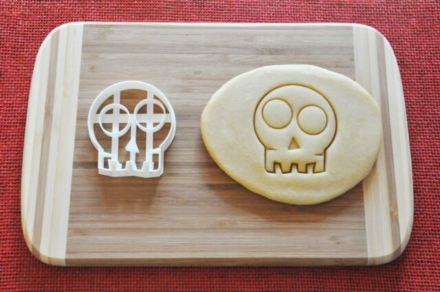 Halloween Skull Cookie Cutter Biscuit Stamp Cake Topper Fondant
