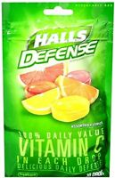 Halls Defense Vitamin C Cough Drops 30 Drops