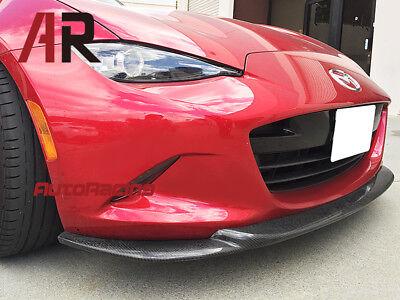 GV Style Carbon Fiber Front Bumper Lip For 2016-2018 Mazda MX-5 MX5 ND Miata