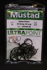 25 Mustad 94140NP-BN Size 6//0 Ultra Point Live Bait Hooks 94140NPBN-60
